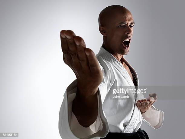 karate chop - combat sport - fotografias e filmes do acervo