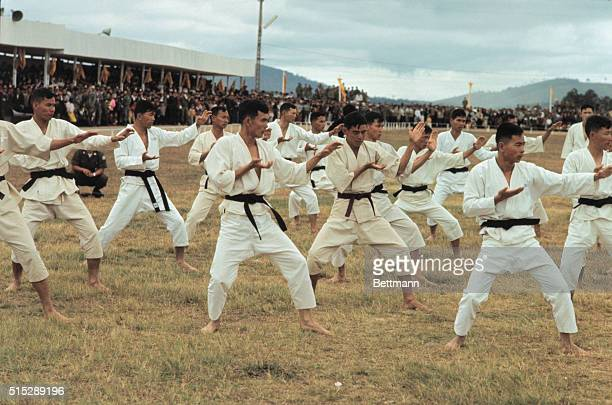 A karate class at South Vietnam Military Academy a new four year school instituted by a decree from then President Ky in 1966 The school is run along...