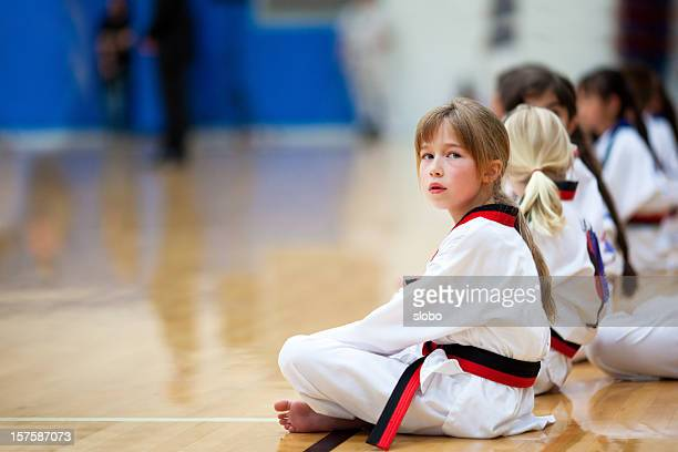 Karate-Mädchen