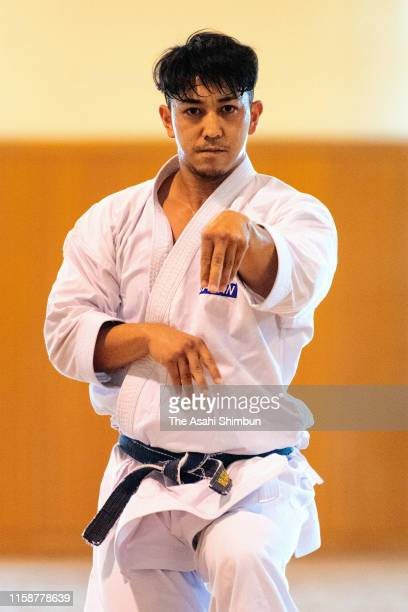 Karate Kata athlete Ryo Kiyuna poses for photographs during the Asahi Shimbun interview on May 22 2019 in Naha Okinawa Indonesia