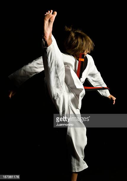 karate kid - teen soles stock photos and pictures