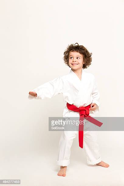 karate kid - red belt stock photos and pictures