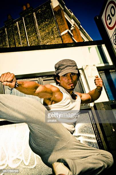 karate street fighter - gesturing stock pictures, royalty-free photos & images