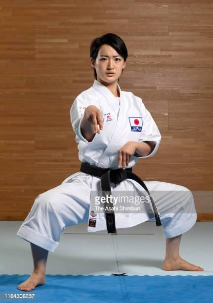 Karateka Kiyo Shimizu poses for photographs during the Asahi Shimbun interview on June 24 2019 in Osaka Japan