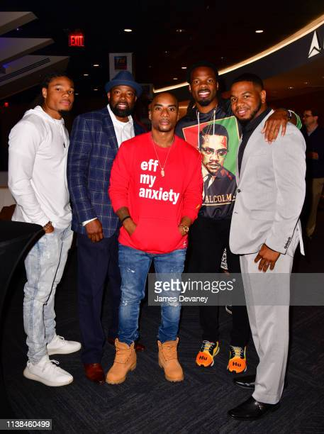 Ka'Raun White guest Charlamagne tha God Kevin White and guest attend Top Rank VIP party prior to the WBO welterweight title fight between Terence...