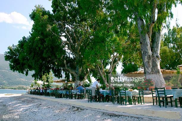 Karavomilos Lake Taverna Kefalonia Greece