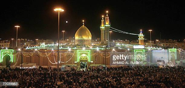 Thousands of Shiite Muslims congregate in front of the Imam Abbas Shrine in the Holy city of Karbala 08 September 2006 110 kms south of Baghdad...