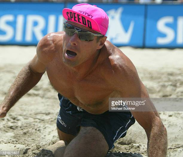 Karch Kiraly dives for the ball during the championship match against Matt Fuerbringer and Casey Jennings Kiraly and his partner Mike Lambert won the...