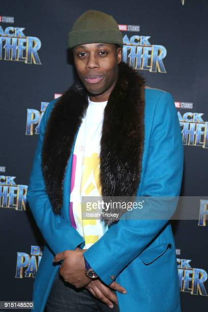 Kardinal Offishall attends the Toronto Premiere of 'Black Panther' at Scotiabank Theatre on February 6 2018 in Toronto Canada