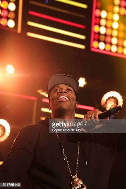 Kardinal Offishall attends Unis pour l'action Montreal at Theatre St Denis on February 22 2016 in Montreal Canada