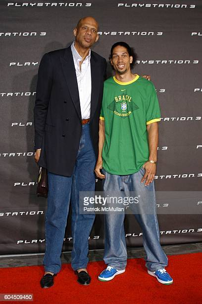 Kareem Abdul Jabbar and Son attends Hollywood's Elite Join Sony Computer Entertainment America to Play Beyond in Celebration of Playstation 3 at...