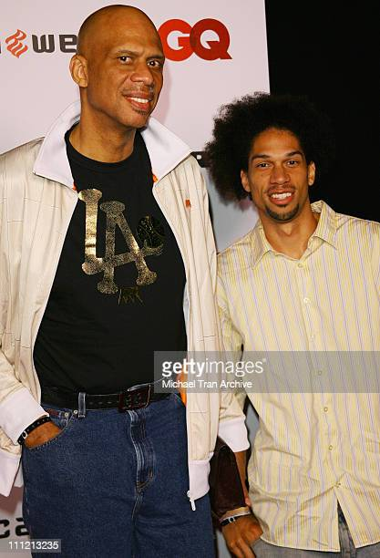 Kareem AbdulJabbar and Kareem AbdulJabbar Jr during JayZ Celebrates Kingdom Come Album Release Party Arrivals at Area in West Hollywood California...