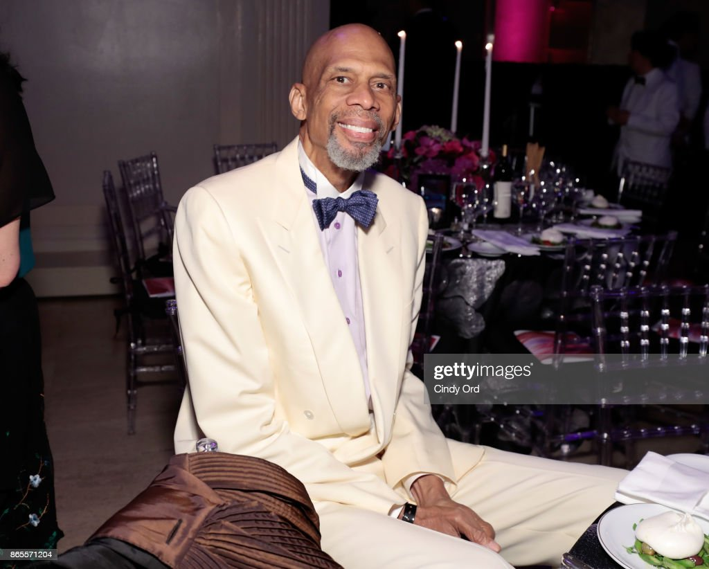 Kareem Abdul-Jabbar arrives at Gabrielle's Angel Foundation's Angel Ball 2017 at Cipriani Wall Street on October 23, 2017 in New York City.