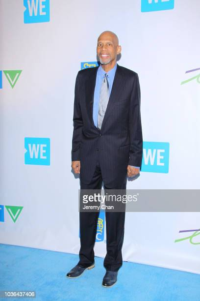 Kareem AbdulJabbar arrives to WE Day Toronto and the WE Carpet at Scotiabank Arena on September 20 2018 in Toronto Canada