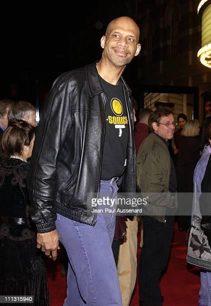 Kareem AbdulJabbar during TNT's Monte Walsh Premiere Los Angeles at Warner Bros Studios in Burbank California United States
