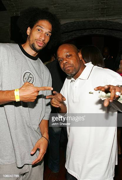 Kareem AbdulJabbar Jr and Too Short during A Midsummer Night's Dream Champion Celebration at Day After Club in Hollywood California United States