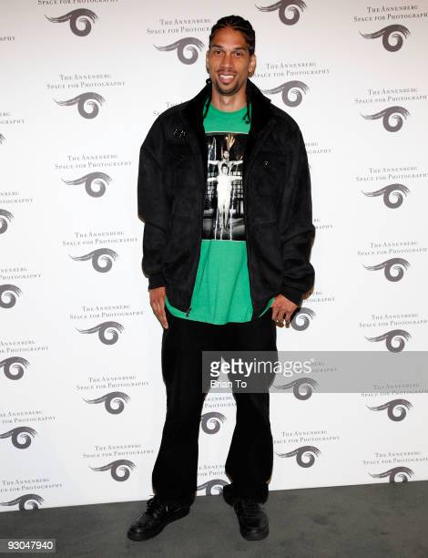 Kareem AbdulJabbar Jr attends Sport Iooss and Leifer Exhibit Opening at The Annenberg Space For Photography on November 13 2009 in Century City...
