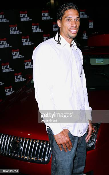 Kareem AbdulJabbar Jr during 2005 Stuff Style Awards Mercury on the Red Carpet at Hollywood Roosevelt Hotel in Los Angeles California United States