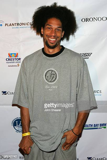 Kareem AbdulJabbar Jr during A Midsummer Night's Dream Champion Celebration at Day After Club in Hollywood California United States