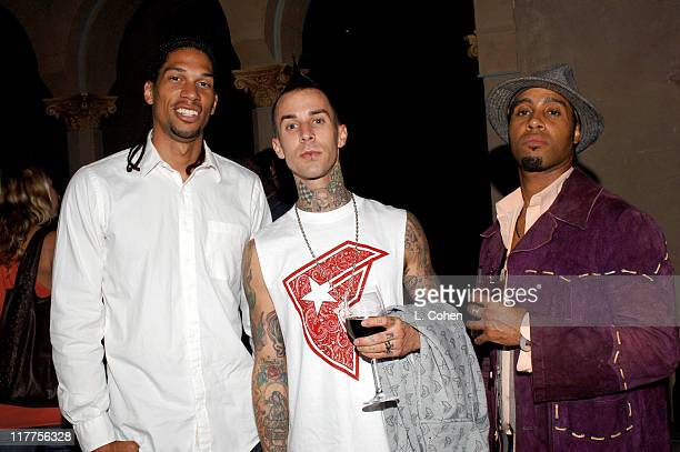 Kareem AbdulJabbar Jr Travis Barker and Kenny Ski