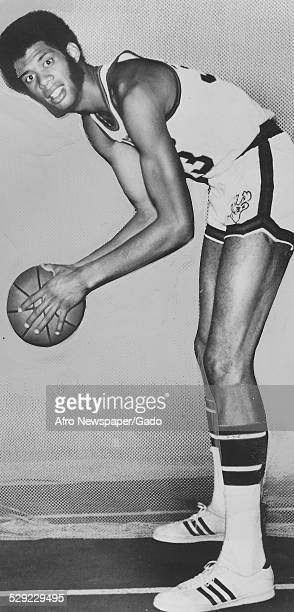 Kareem AbdulJabbar Original Caption Reads 'DC And Late City Sports Bullets College Park Kareem Abdul Jabbar Leads Bucks In For Sabbath Opener'