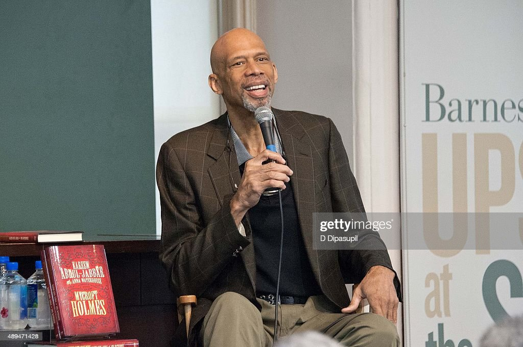 "Kareem Abdul-Jabbar Signs Copies Of ""Mycroft Holmes"""