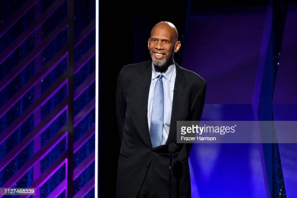 Kareem AbdulJabbar speaks onstage at the 18th Annual AARP The Magazine's Movies For Grownups Awards at the Beverly Wilshire Four Seasons Hotel on...