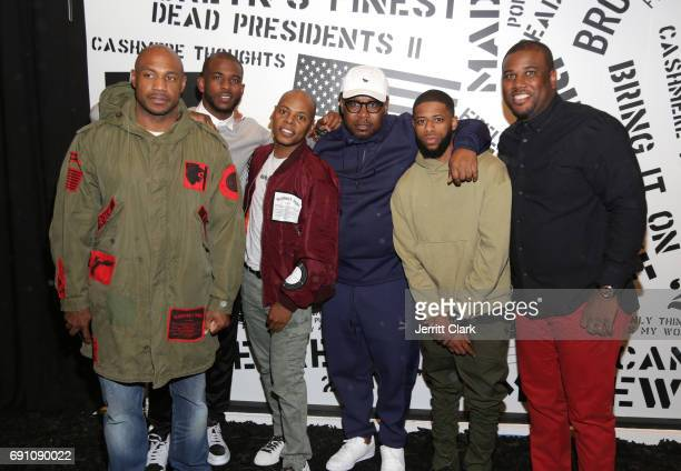Kareem 'Biggs' Burke Chris Paul Tyran 'Ty Ty' Smith Emory Jones and friends attend the Madeworn x Roc96 PopUp Event on May 31 2017 in Los Angeles...