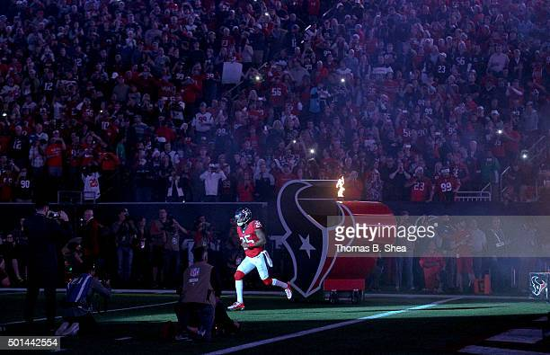 Kareem Jackson of the Houston Texans is introduced before playing against the New England Patriots on December 13, 2015 at NRG Stadium in Houston,...