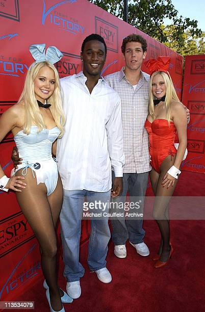 Kareem Rush and Luke Walton during Tom Brady and ESPN Host 'Fight For Victory' PreParty for the 12th Annual ESPY Awards at Playboy Mansion in Los...