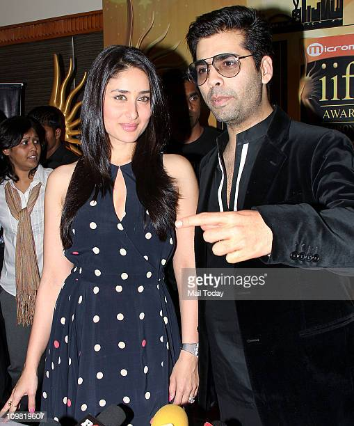 Kareena Kapoor and Karan Johar at the voting weekend for The Indian International Film Awards at Hotel Marriott in Mumbai on March 4 2011