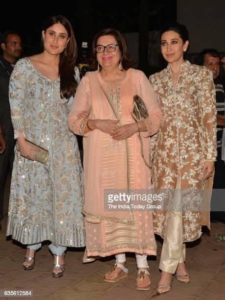 Kareena Kapoor and Karisma Kapoor at Randhir Kapoor's 70th Birthday Bash in Mumbai