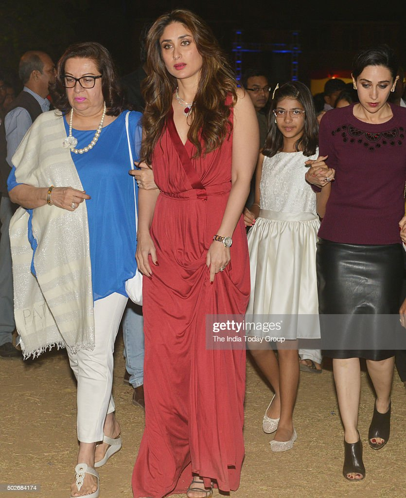 Kareena Kapoor and Karisma Kapoor for midnight Christmas mass in Mumbai