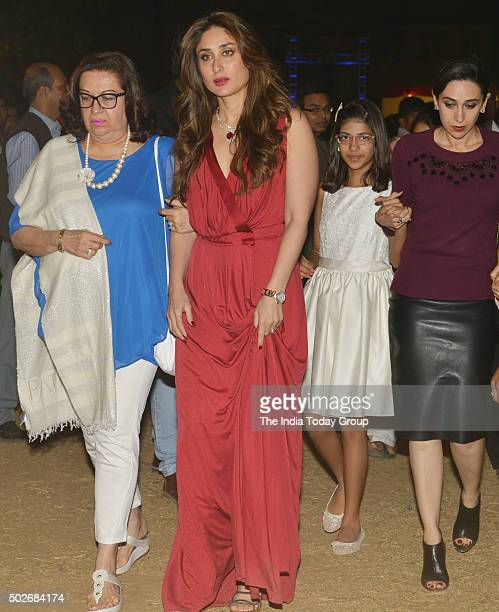 Kareena Kapoor and Karisma Kapoor for midnight Christmas mass in Mumbai