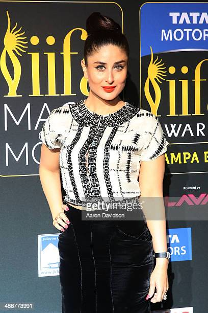 Kareena Kapoor arrives to the IIFA Magic of the Movies at MIDFLORIDA Credit Union Amphitheatre on April 25 2014 in Tampa Florida
