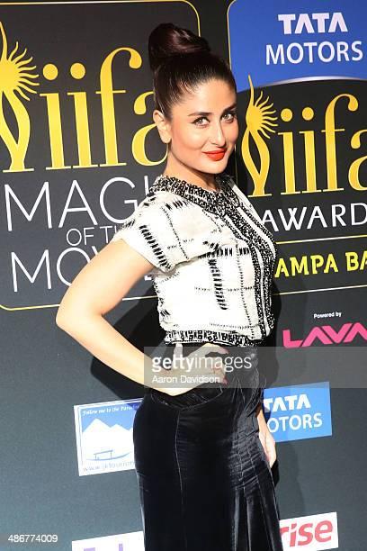 Kareena Kapoor arrives to the IIFA Magic of the Movies at MIDFLORIDA Credit Union Amphitheatre on April 25 2014 in Tampa Florida