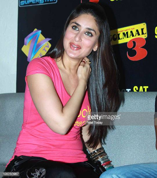 Kareena Kapoor at a promotional event for the film Golmaal 3 in Mumbai on October 7 2010