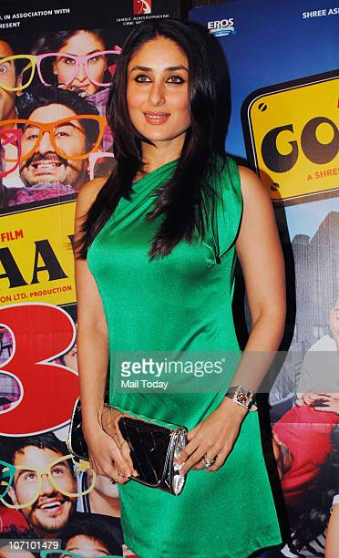 Kareena Kapoor at Golmaal 3 success party in Mumbai on November 22 2010