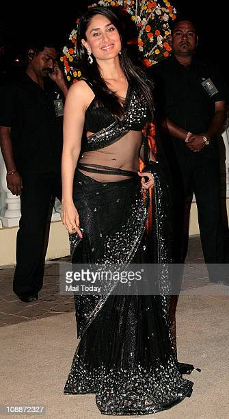 Kareena Kapoor at Imran Khan and Avantika Malik's wedding reception party which was organised by Aamir Khan and Kiran Rao at Taj Lands End in Bandra...