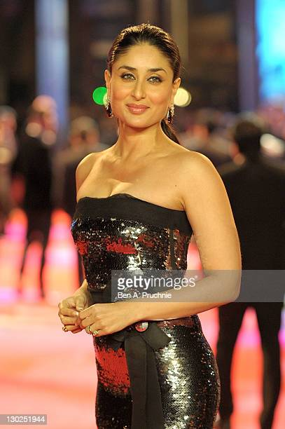 Kareena Kapoor attends the UK premiere of RA One at 02 Arena on October 25 2011 in London England