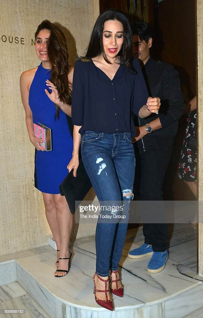 Kareena Kapoor Khan and Karisma Kapoor at Manish Malhotra`s birthday bash in Mumbai