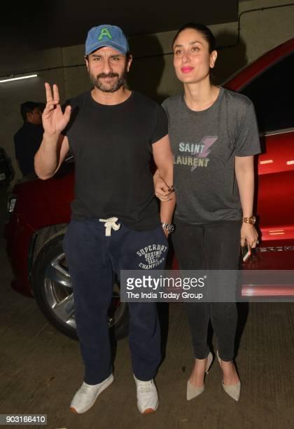 Kareena Kapoor Khan and Saif Ali Khan during the special screening of Kaalakaandi in Mumbai