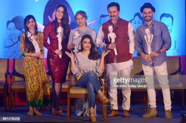 Kareena Kapoor Khan Saif Ali Khan Saba Ali Khan Soha Ali Khan Kunal Khemu and Sharmila Tagore at Soha Ali Khans book 'The Perils Of Being Moderately...
