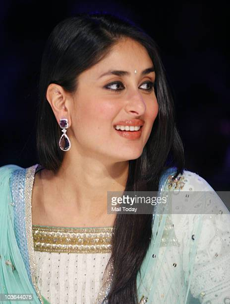 Kareena Kapoor on the sets of the show India's Got Talent in Mumbai on August 23 2010