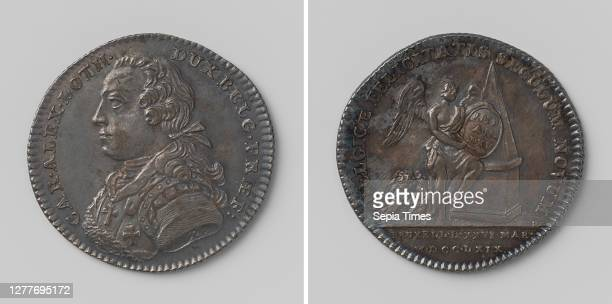 Karel Alexander, duke of Lorraine-Bar, governor of the southern Netherlands for twenty-five years, counted token charged by the city of Brussels,...