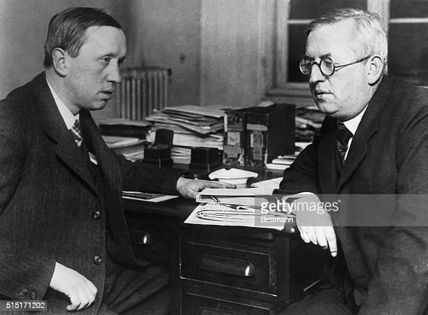 Karel Capek sitting with his brother Joseph Capek