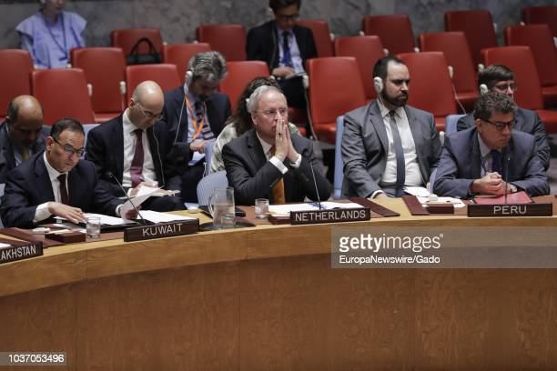 Karel JG van Oosterom Permanent Representative of the Kingdom of the Netherlands to the United Nations During the Security Council meeting on the...