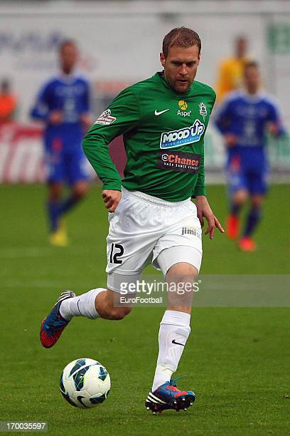 Karel Pitak of FK Jablonec in action during the Czech First League match between FK Jablonec and SK Sigma Olomouc held on May 26, 2013 at the Chance...