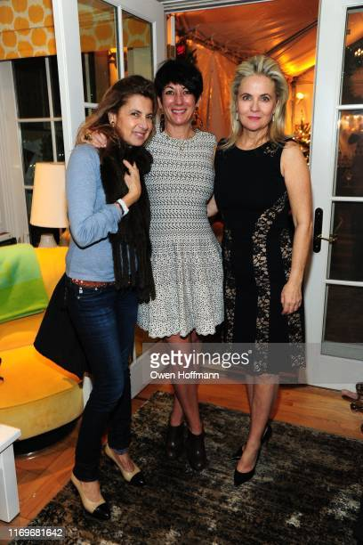 Karella Kalliope Ghislaine Maxwell and Cornelia Guest attend John Demsey Cornelia Guest's Holiday Bash at Private Residence on December 15 2015 in...