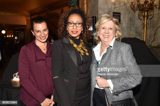 Karen Agnifilo, Tamara Tunie and Linda Fairstein attend Love Rocks NYC VIP Rehearsal Cocktail at Beacon Theatre on March 14, 2018 in New York City....